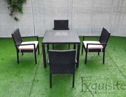 Masa cu scaune pentru terasa, ratan sintetic