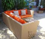 Canapea din ratan sintetic 2