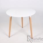 Masa de bucatarie Exquisite, rotunda, MDF alb0