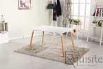 Masa de bucatarie, living MDF cu picioare din lemn, design Eames, EX10120
