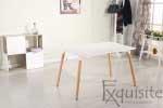 Masa de bucatarie, living MDF cu picioare din lemn, design Eames, EX10122