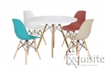 Masa rotunda din MDF 100cm cu 4 scaune pentru bucatarie1