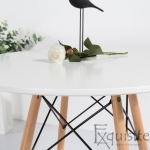 Masa rotunda din MDF 100cm cu 4 scaune pentru bucatarie3