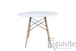 Masa rotunda din MDF cu 4 scaune pentru bucatarie / living1