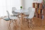 Masa rotunda din mdf cu 4 scaune tip Eames 0