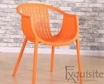Masa rotunda din MDF 80 x 73cm cu 4 scaune tip Luigi1