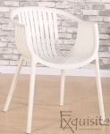 Masa rotunda din MDF 80 x 73cm cu 4 scaune tip Luigi3