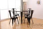 Masa cu scaune din metal0