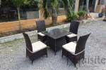 Masa cu scaune pentru gradina din ratan artificial1