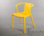 Scaun cu brate din plastic pentru terasa, Set 4 scaune 5