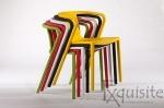 Scaun cu brate din plastic pentru terasa, Set 4 scaune 8