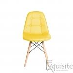 Scaun de bucatarie din piele ecologică si picioare din lemn2