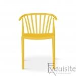 Scaun galben pentru terasa, rezistent, Countryside, EX0961