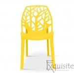 Scaun stivuibil pentru terasa, plastic galben, EX0930