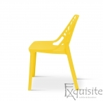 Scaun stivuibil pentru terasa, plastic galben, EX0932