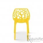 Scaun stivuibil pentru terasa, plastic galben, EX0934