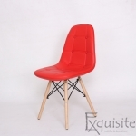 Scaun tapitat alb cu piele ecologica - Set 2 scaune1