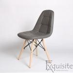 Scaun tapitat alb cu piele ecologica - Set 2 scaune2