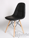 Scaun tapitat alb cu piele ecologica - Set 2 scaune3
