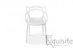 Scaun pentru terasa, alb, design Masters Set 4 Scaune, EX0910