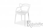 Scaun pentru terasa, alb, design Masters Set 4 Scaune, EX0912