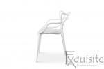 Scaun pentru terasa, alb, design Masters Set 4 Scaune, EX0913