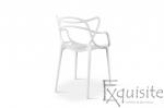 Scaun pentru terasa, alb, design Masters Set 4 Scaune, EX0914