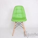 Scaun verde din piele artificiala, Set 2 bucati0