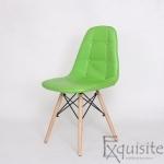 Scaun verde din piele artificiala, Set 2 bucati1