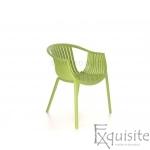 Scaun verde pentru exterior si interior, solid, model Luigi2