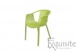 Scaun verde pentru exterior si interior, solid, model Luigi3
