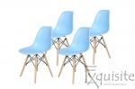 Scaune de bucatarie cu picioare din lemn - Set 4 scaune 6