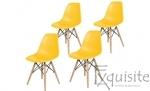 Scaune de bucatarie cu picioare din lemn - Set 4 scaune 0
