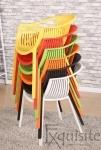 Scaune de bucatarie din plastic - Set 4 Scaune - galben, verde, alb, portocaliu, negru, rosu5