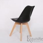 Scaune negre, sezut din piele ecologica, Set 4 scaune4