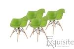 Scaune colorate de bucatarie, Set 4 scaune0