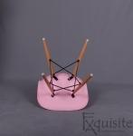 Scaun de bucatarie, living, set 4 bucati, roz2
