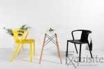 Scaun modern pentru terasa din plastic, Exquisite, diverse culori9
