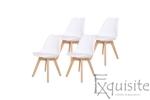 Scaune de bucatarie - set 4 bucati - tapitat cu piele ecologica, design Eames, colorate5