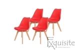 Scaune de bucatarie - set 4 bucati - tapitat cu piele ecologica, design Eames, colorate3