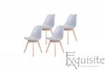 Scaune de bucatarie - set 4 bucati - tapitat cu piele ecologica, design Eames, colorate2