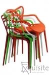 Scaune moderne de bucatarie din plastic - Set 4 Scaune - design Masters 10