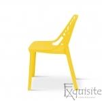 Set 4 scaune pentru terasa, PP, rezistente, galben 1