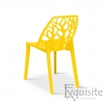 Set 4 scaune pentru terasa, PP, rezistente, galben 2