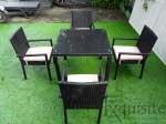 Masa cu scaune pentru terasa, ratan sintetic1