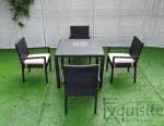 Masa cu scaune pentru terasa, ratan sintetic0